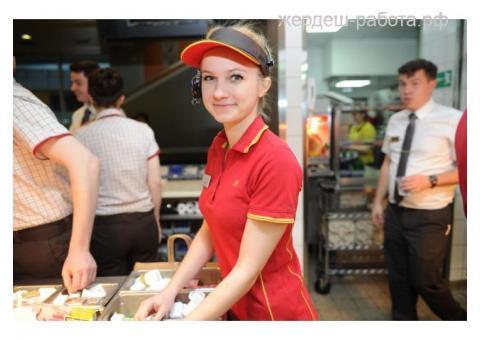 Кассир в ресторан быстрого питания