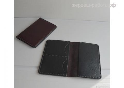 Кошельки картхолдеры и обложки для паспорта докхолдеры для автодокументов 100%натуральная кожа