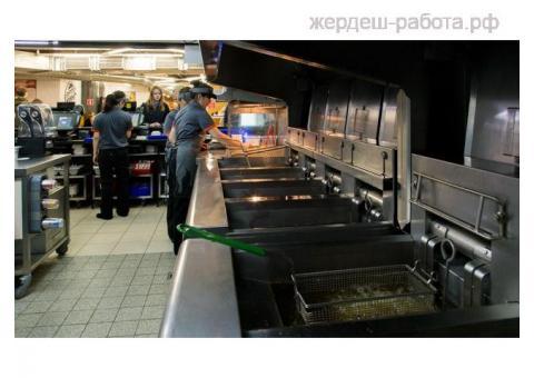 кассиры повара в ресторан быстрого питания